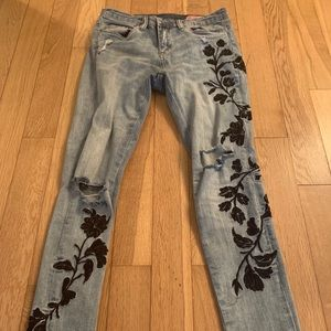 Blank NYC embroidered jeans